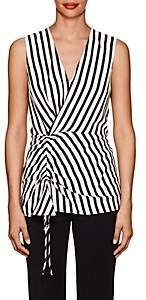 Derek Lam Women's Striped Silk Sleeveless Blouse - Black White