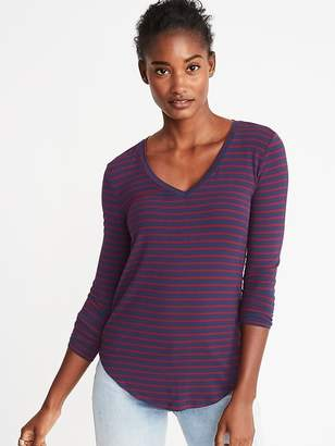 Old Navy Luxe Slim-Fit V-Neck Tee for Women