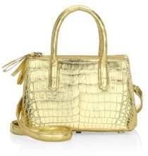 Nancy Gonzalez Mini Nix Metallic Crocodile Top Handle Bag
