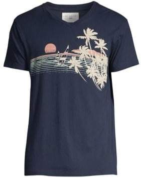 Sol Angeles Classic-Fit Catamarans V-Neck Palm Tree Graphic Tee