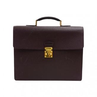Louis Vuitton Vintage Serviette Ambassadeur Burgundy Leather Handbag