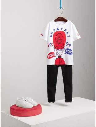 Burberry Icons Print Cotton T-shirt