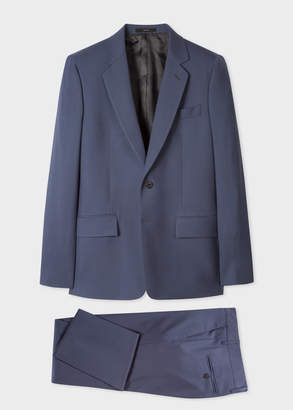 Paul Smith The Piccadilly - Men's Tailored-Fit Slate Blue Wool Suit 'A Suit To Travel In'