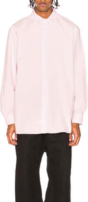 Raf Simons Oversized Embroidered Long Sleeve Shirt
