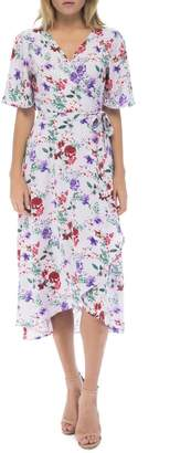 Bobeau Orna Floral Wrap-Dress