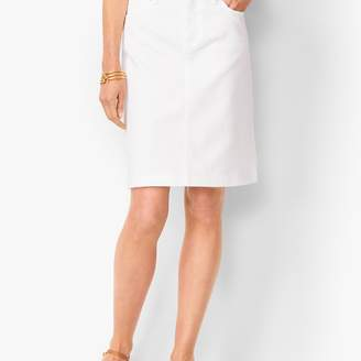 Talbots Classic Denim Skirt - White
