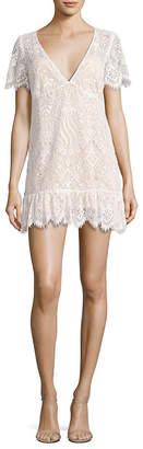 For Love & Lemons Lily Lace T-Shirt Dress