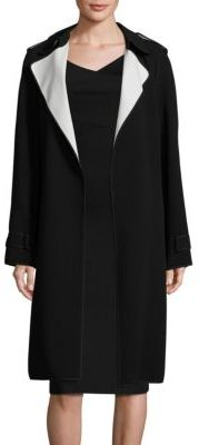 Theory Laurelwood Crepe Trench Coat $655 thestylecure.com