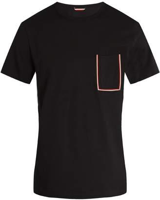 Moncler Striped patch-pocket cotton-jersey T-shirt