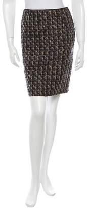 Lanvin Woven Wool Skirt