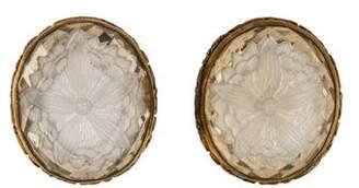 Stephen Dweck Carved Quartz Floral Clip-On Earrings