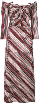 Isa Arfen striped maxi dress