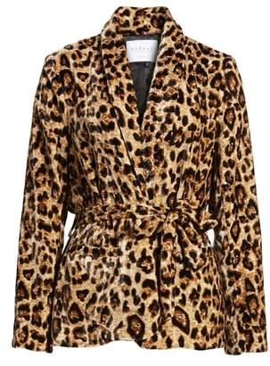 Velvet by Graham & Spencer Velvet Belted Smoking Jacket