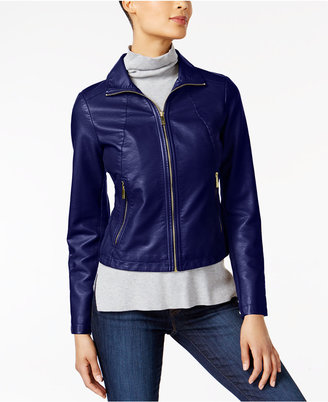 Kenneth Cole Faux-Leather Moto Jacket $150 thestylecure.com