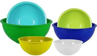 Gourmet Home Products 6-Piece Nested Polypropylene Mixing Bowl Set