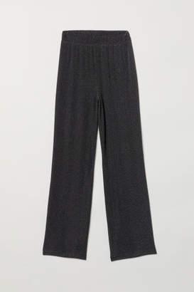 H&M Wide-cut Pull-on Pants - Black