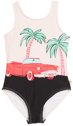 Kate Spade Road Trip One-Piece Swimsuit, Size 2-6x