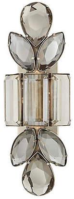Kate Spade Lloyd Large Sconce - Antiqued Nickel/Smoky Crystal