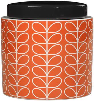 Orla Kiely Linear Stem Storage Jar - Persimmon - Large