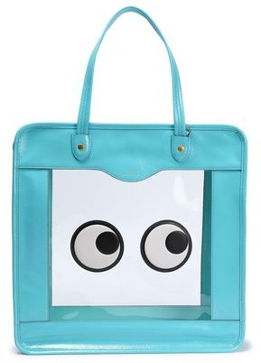 Anya Hindmarch Rainy Day Appliqued Pvc And Crinkled Patent-leather Tote