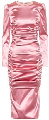 Dolce & Gabbana Stretch-satin midi dress
