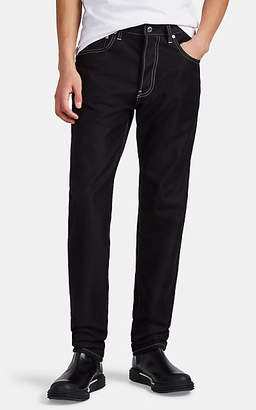 Helmut Lang Men's Contrast-Stitched Cotton-Blend Slim Jeans - Black