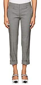 Prada Women's Stretch Wool-Silk Sharkskin Pants-Gray