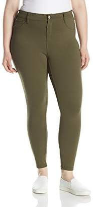 Celebrity Pink Jeans Women's Plus Size Compression Ponte Skinny