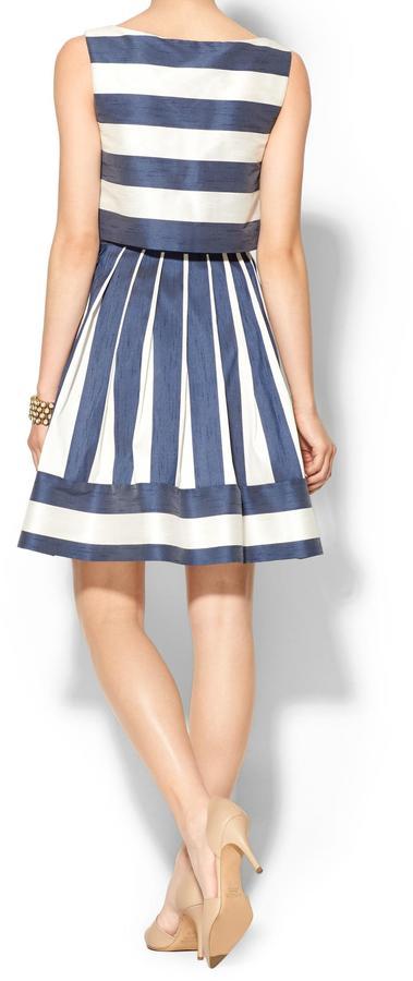 Pim + Larkin Striped Double Layer Mini Dress