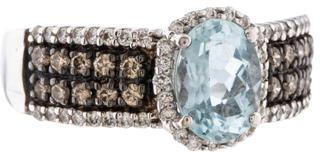 Le Vian Aquamarine & Diamond Ring $795 thestylecure.com