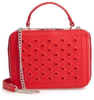 BP Grommet Detail Faux Leather Crossbody Bag