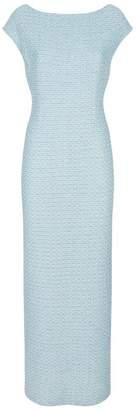 St. John Metallic Tweed Gown