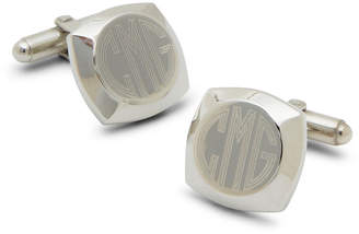 Accessories Engravable Cushion Silver-Plated Cufflinks