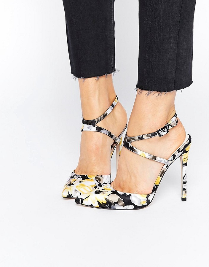 ASOS PICTURE Pointed High Heels - Floral