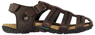 Karrimor Mens Lounge Fish Sandals Buckle Hook and Loop Leather Upper
