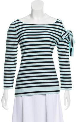 Sonia Rykiel Tie-Accented Striped Top