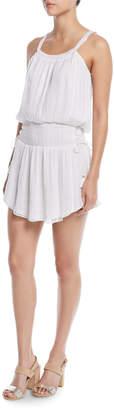 Ramy Brook Lydia Smocked Tie-Side Mini Dress
