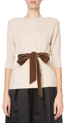 Marc Jacobs Thermal Sweater with Velvet Belt