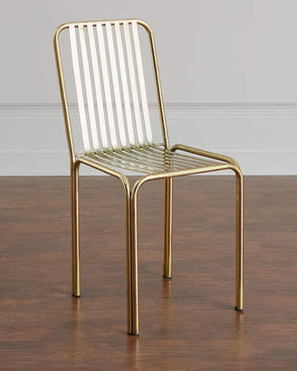 Zariza Antiqued Brass Side Chair