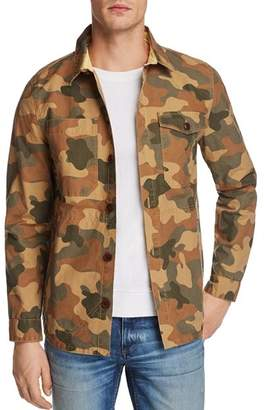 Barbour Camouflage Button-Up Shirt Jacket