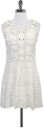 Charlotte Ronson- Ivory & Blue Print Cotton Dress Sz 2