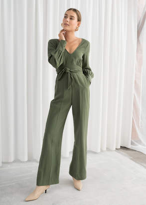 And other stories Flared Belted Jumpsuit