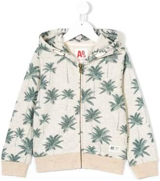 American Outfitters Kids Palm print zipped sweatshirt