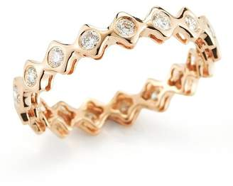 DANA REBECCA 14K Rose Gold Diamond Sophia Ryan Stacking Band - 0.51 ctw