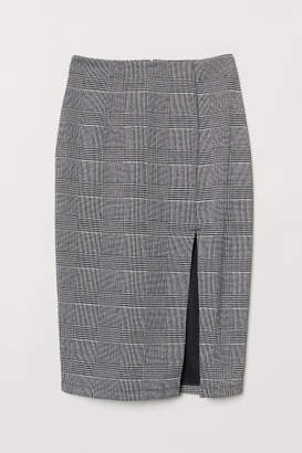H&M Pencil Skirt with Slit - Black