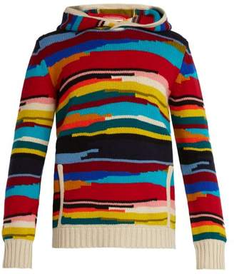 Missoni Multicolour Wool Hooded Sweater - Mens - Multi