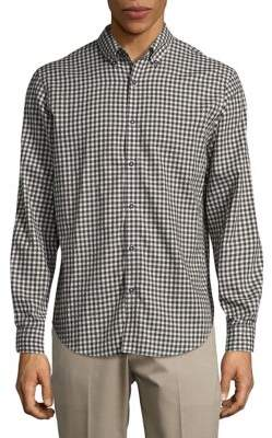 Black & Brown Black Brown Muted Checkered Button-Down Shirt