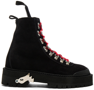 OFF-WHITE Suede Hiking Mountain Boots $988 thestylecure.com