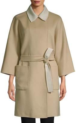 Max Mara Women's Hobby Wool Wrap Coat