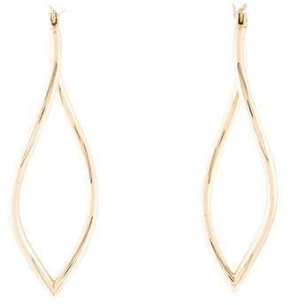 14K Twisting Drop Earrings
